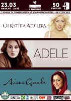 Adele, Ariana Grande, Christina Aguilera
