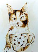 Пишем кофейную картину