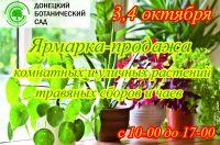 Ярмарка-продажа комнатных и уличных растений