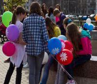 Флешмоб воздушных шаров