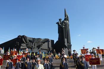 В Донецке отметили 69-ю годовщину со Дня освобождения Донбасса от немецко-фашистских захватчиков