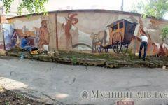 На этой неделе в Донецке завершится работа над граффити с изображением Шерлока Холмса