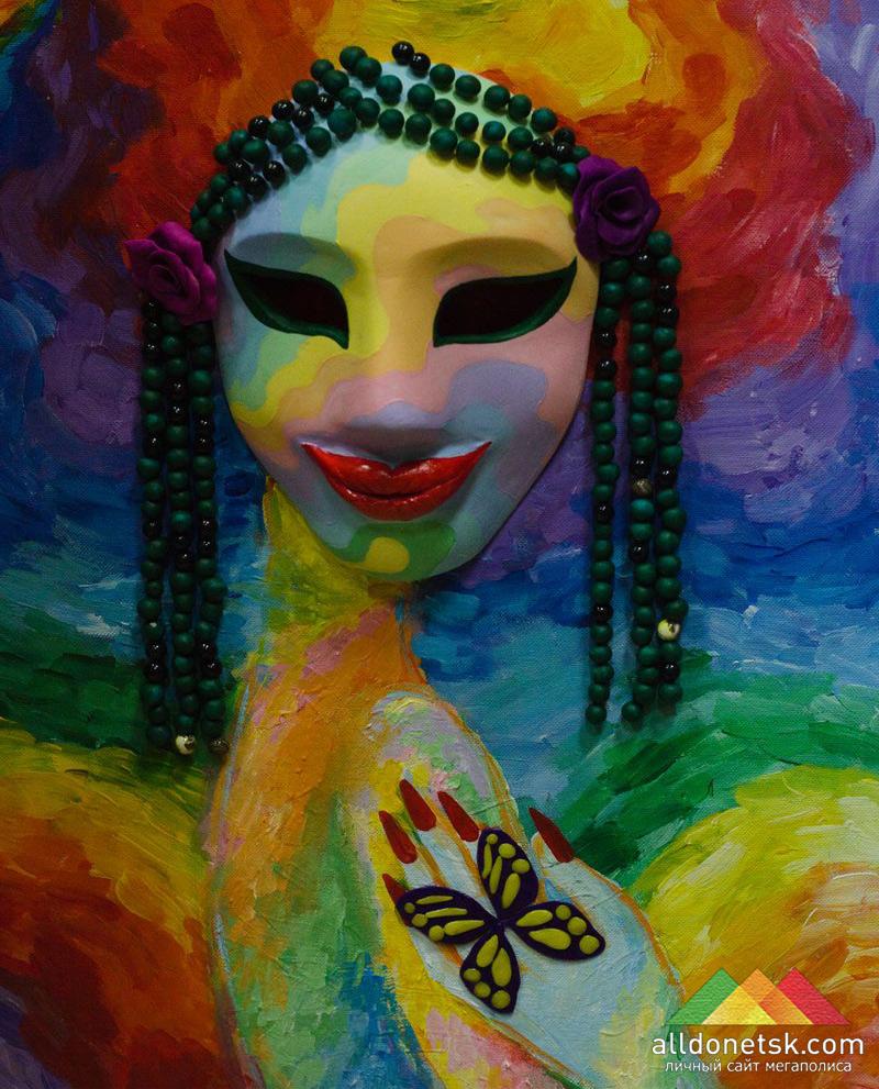 Силуэт женского тела на летнюю тематику на холсте