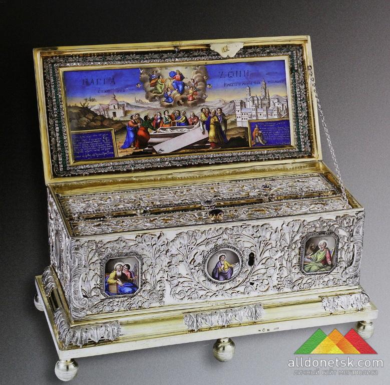 Ковчег с поясом Божьей Матери. Ватопедский монастырь