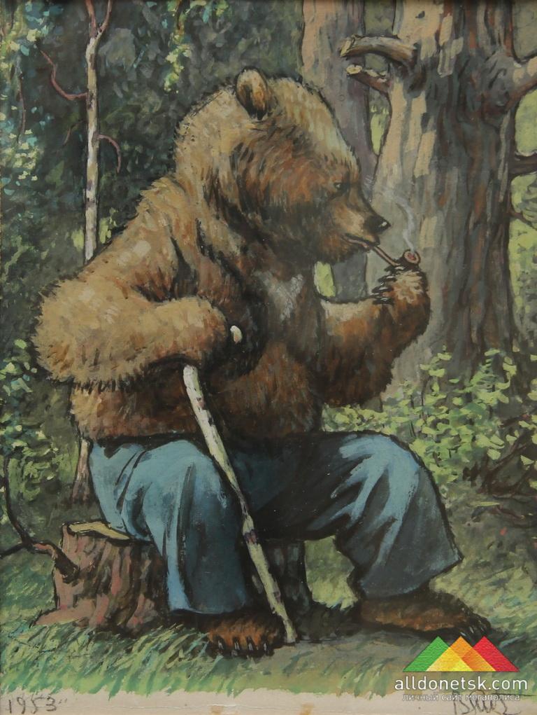 Литвиненко В.Г. Иллюстрация к сказке Л.Толстого