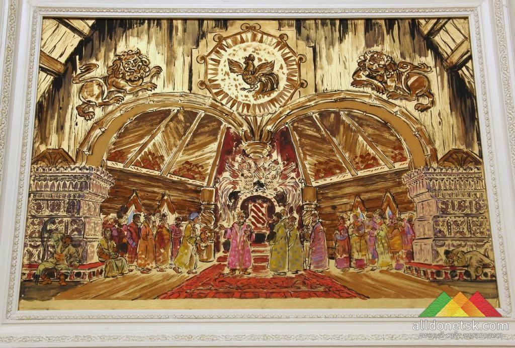 Грейлих Е.Е. Эскиз декорации к I акту оперы Н. А. Римского-Корсакова