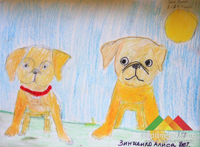 Все детские рисунки собак