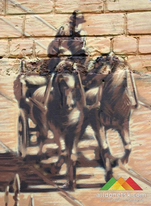 Изображение выделяется из ранее сделанных работ художников, оно выполнено в сдержанной цветовой гамме