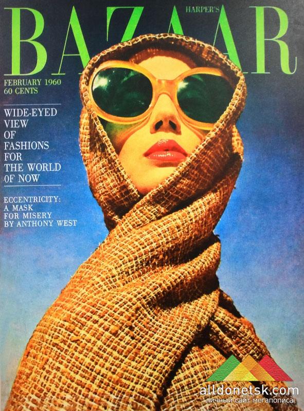 Главный акцент февральской обложки 1960 года? Огромные солнцезащитные очки. Ричард Аведон. Февраль, 1960 г.