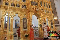Первая литургия в храме святых Петра и Февронии