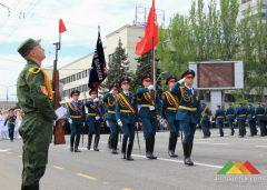 Парад в честь Дня Победы. Донецк, май 2016