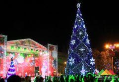 Открытие Новогодней ёлки в Донецке (декабрь 2017 г.)