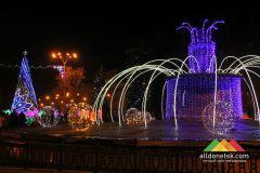 Новогодние огни Донецка