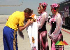 Сборная Украины уже в Донецке!