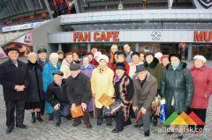 В Донецке состоялось знакомство ветеранов ВОВ со спортивным бриллиантом города – стадионом «Донбасс Арена»