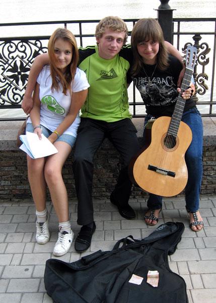 Подайте, пожалуйста, на развитие талантов юных музыкантов