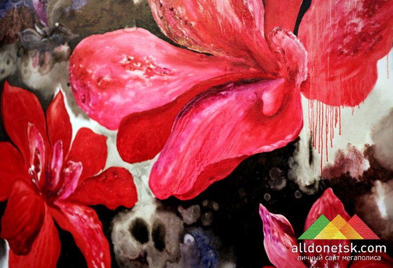 Роман Жук. Big flower, 2011. Холст, масло 160х200 см
