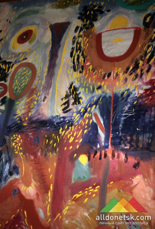 Павел Керестей. Солнце в бокале, 1989.  Холст, масло 203х149 см