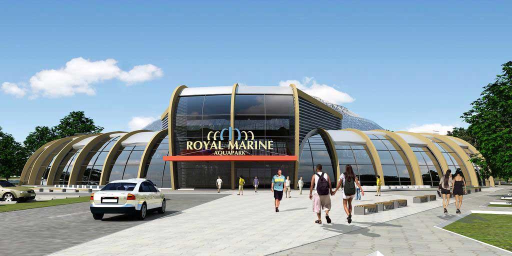 Аквапарк: Проект центрального входа