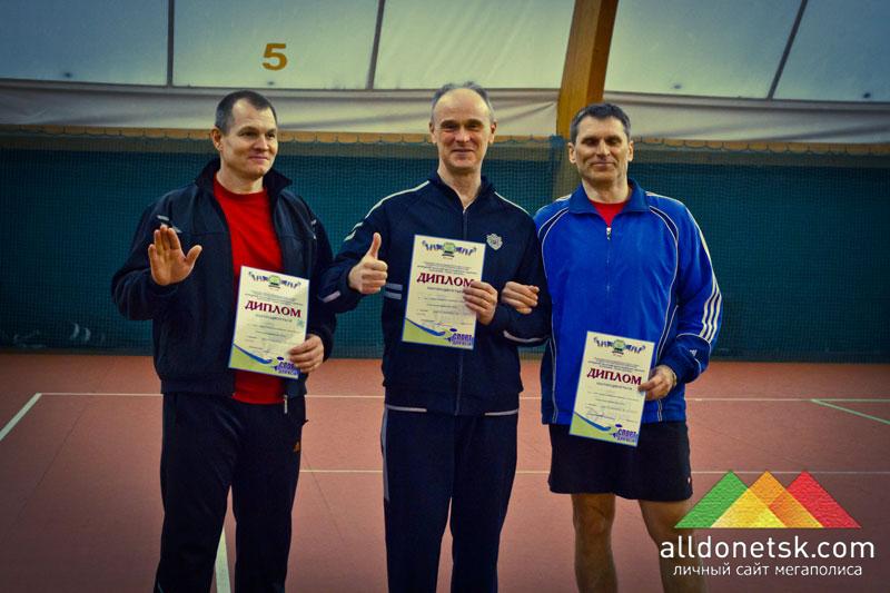 Мужчины старше 50 лет: Сергей Деревянко (2 место), Александр Вольский (1 место), Юрий Сташевский (3 место)