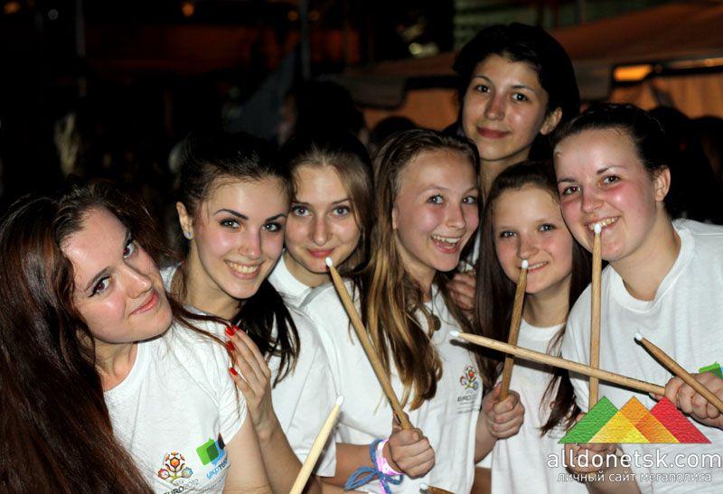 Донецкие волонтеры никогда не забудут этот звездный вечер.
