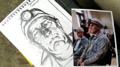 Цай Гоцян в Донецке создает пороховые картины